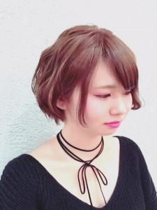 黒染めから明るい髪色に^^