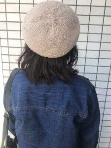 帽子に似合うヘアスタイル