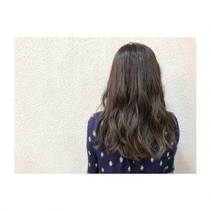 暗髪×透明感