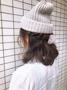 ニット帽アレンジ☆