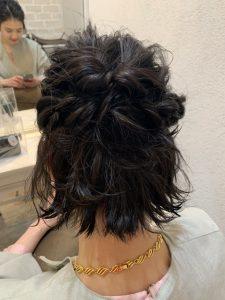 ショートヘアーのヘアセット☆彡