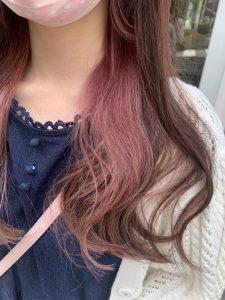 《ベビーピンクインナーカラー》
