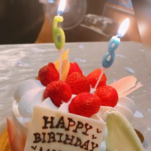 【休日:大切な日のお祝い(*^^)v♪**】