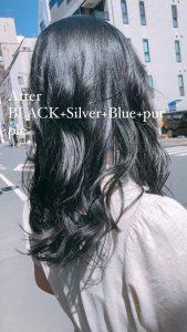 BLACK+silver+Blue+purple をミックス(*^^)v♪**