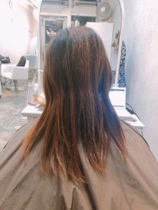 傷んだ髪をミラクルチェンジ♪**